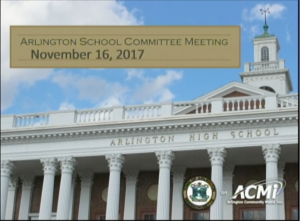 School Committee Meeting – November 16, 2017