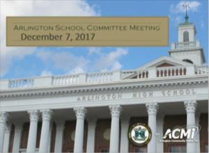 School Committee Meeting – December 7, 2017