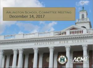 School Committee Meeting – December 14, 2017