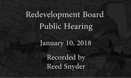 Redevelopment Board Public Hearing – January 10, 2018