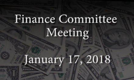 Finance Committee – January 17, 2018