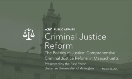 The Politics of Justice: Comprehensive Criminal Justice Reform in Massachusetts