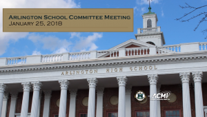 School Committee Meeting – January 25, 2018