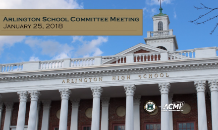 School Committee Meeting – January 25, 2018