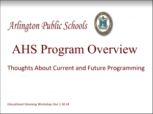 AHS Program Overview Forum – February 13, 2018