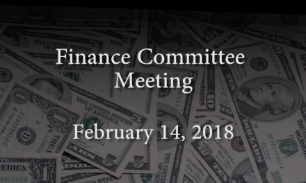 Finance Committee Meeting – February 14, 2018