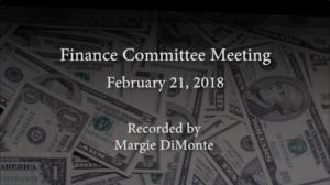 Finance Committee – February 21, 2018