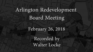Redevelopment Board Meeting – February 26, 2018