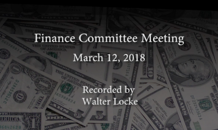 Finance Committee – March 12, 2018