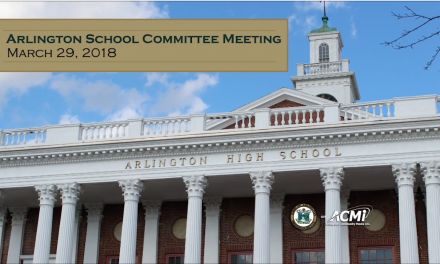 School Committee Meeting – March, 29, 2018