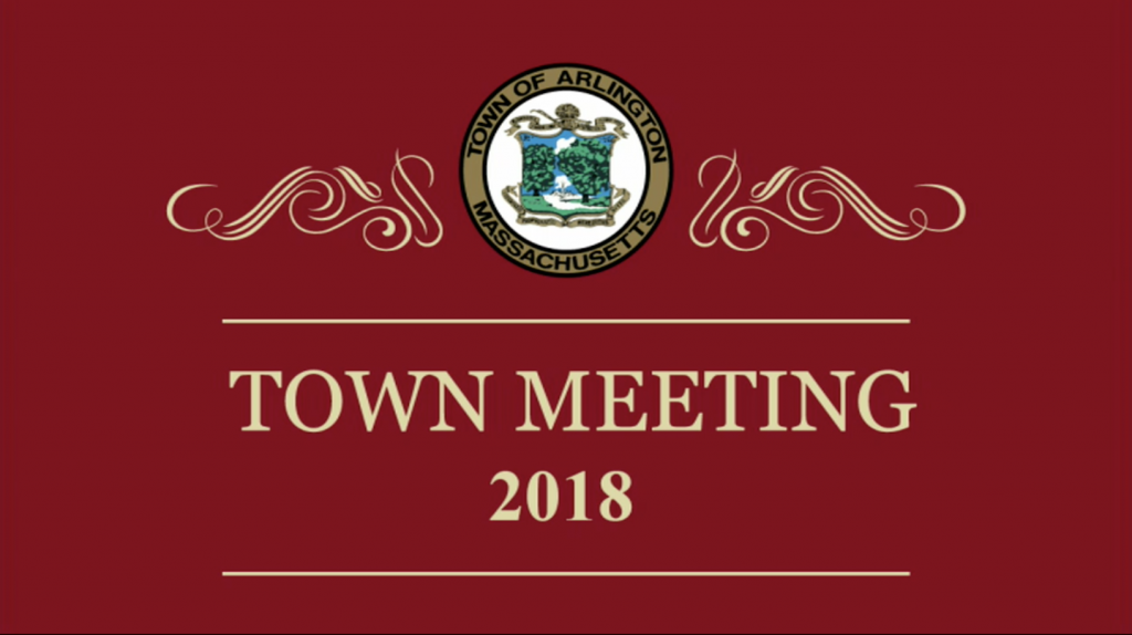 Town Meeting – April 30, 2018