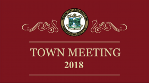 Town Meeting – May 2, 2018