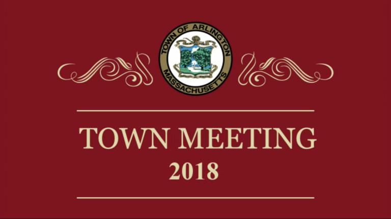 Town Meeting – April 23, 2018