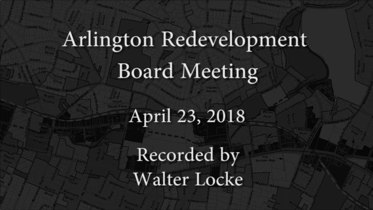 Redevelopment Board Meeting – April 23, 2018