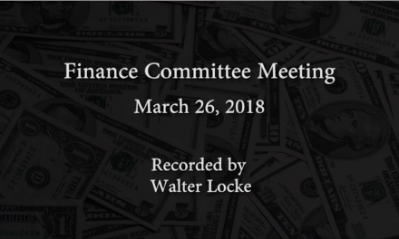 Finance Committee – March 26, 2018