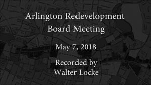 Redevelopment Board Meeting – May 7, 2018