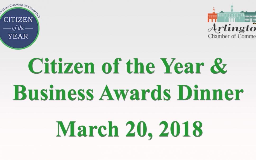 Citizen of the Year & Business Awards Dinner – March 20, 2018