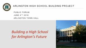 AHS Building Project Community Forum – June 4, 2018