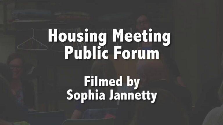 Housing Meeting Public Forum – June 14, 2018