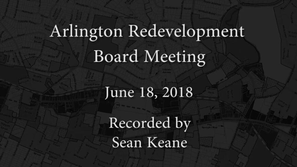 Redevelopment Board Meeting – June 18, 2018