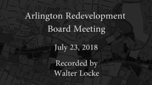 Redevelopment Board Meeting – July 23, 2018
