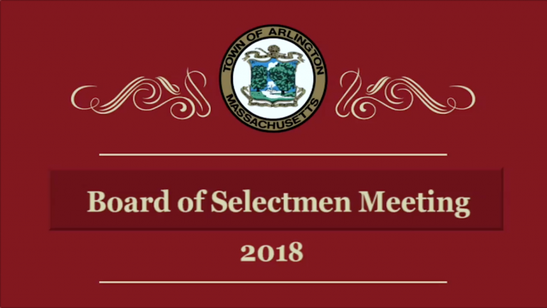 Selectmen Meeting – August 13, 2018