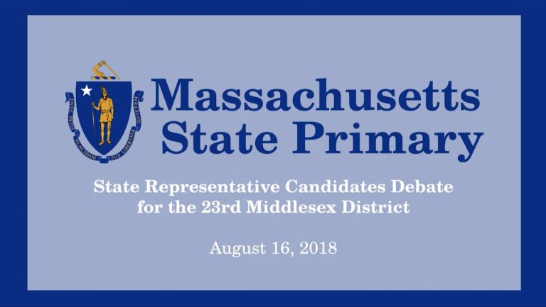 23rd Middlesex District State Representative Race – Candidates' Debate
