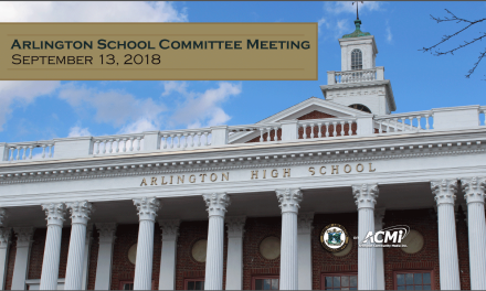 School Committee Meeting – September 13, 2018