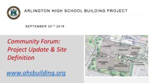 AHS Building Committee Community Forum – September 24, 2018