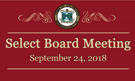 Select Board Meeting – September 24, 2018