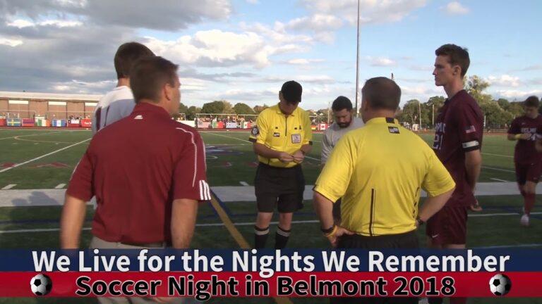 Arlington High School Boys Soccer vs Belmont September 29th, 2018