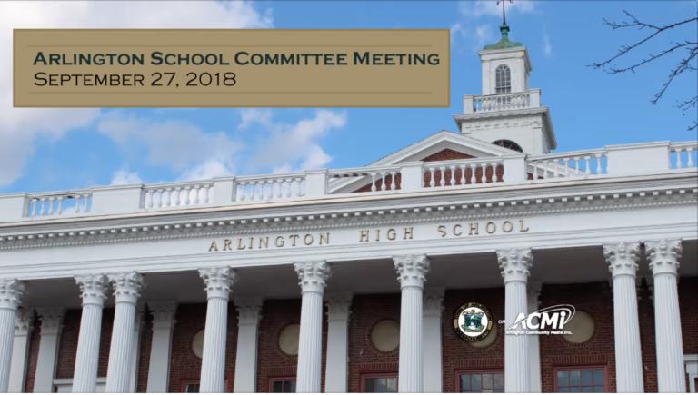 School Committee Meeting – September 27, 2018
