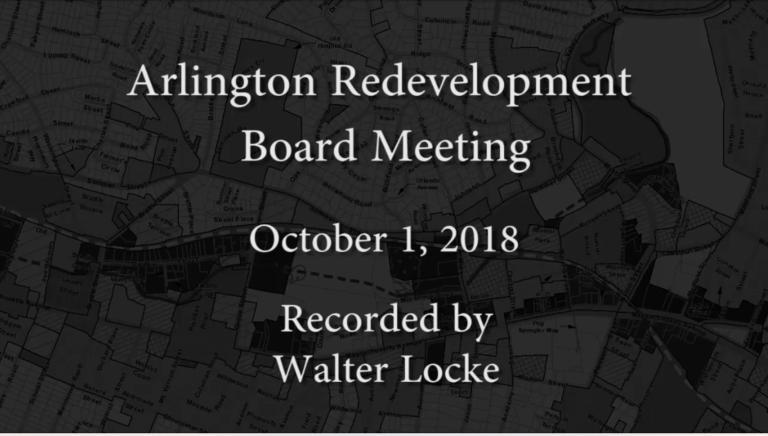 Redevelopment Board Meeting – October 1, 2018