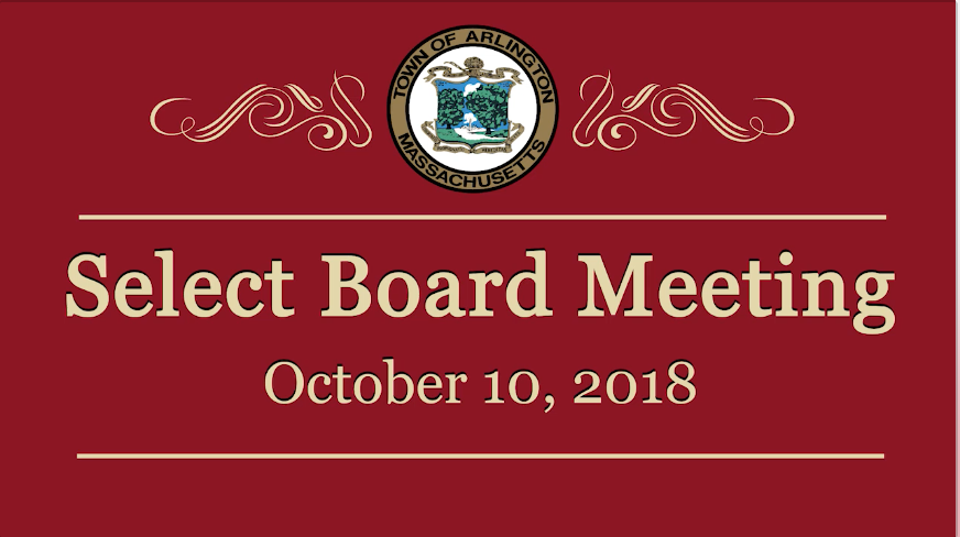 Select Board Meeting – October 10, 2018