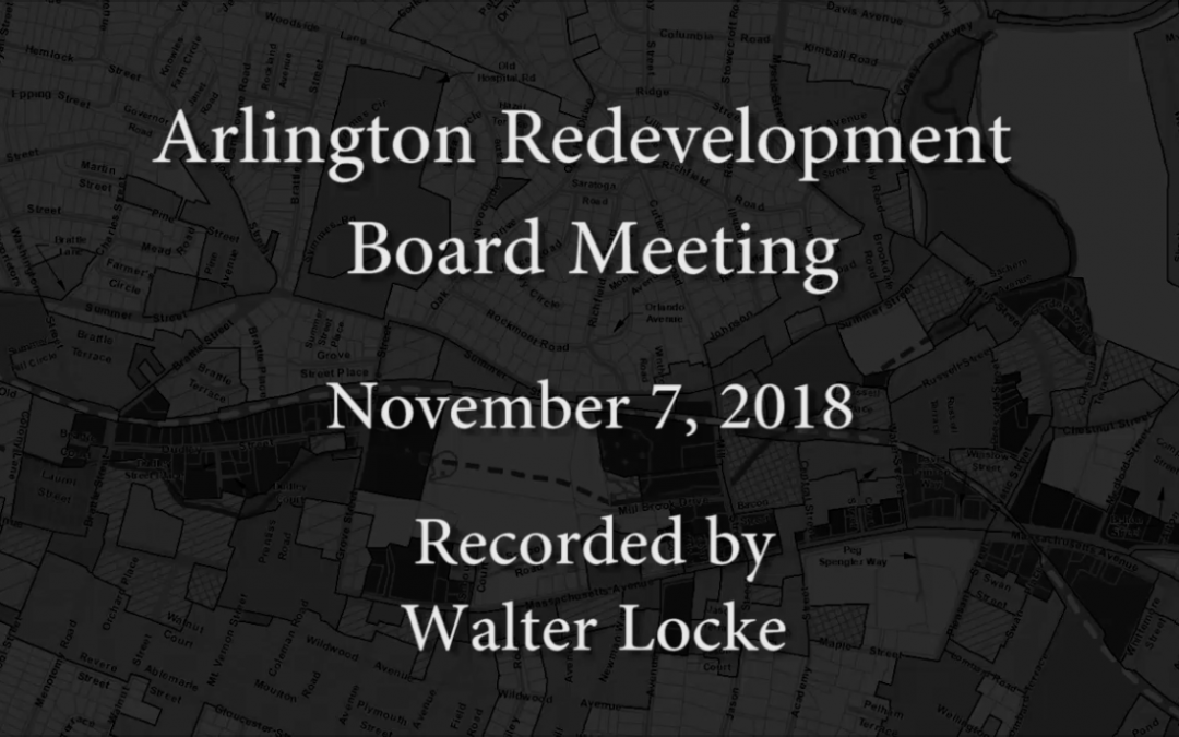 Redevelopment Board Meeting – November 7, 2018