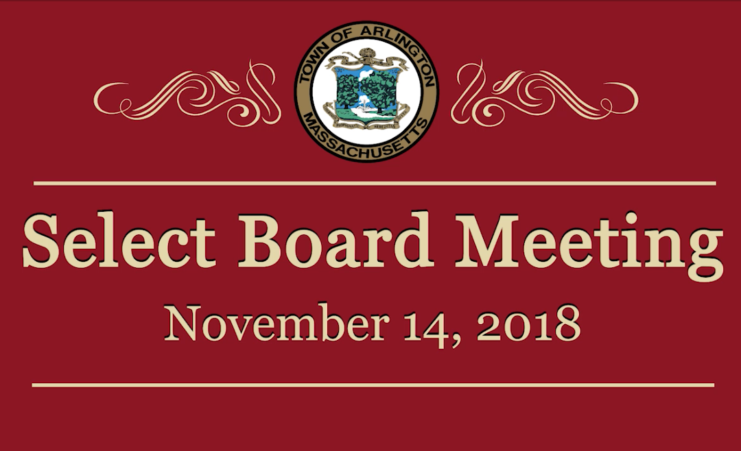 Select Board Meeting – November 14, 2018