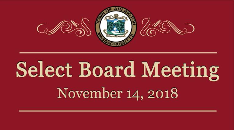 Select Board Meeting – November 14, 2018