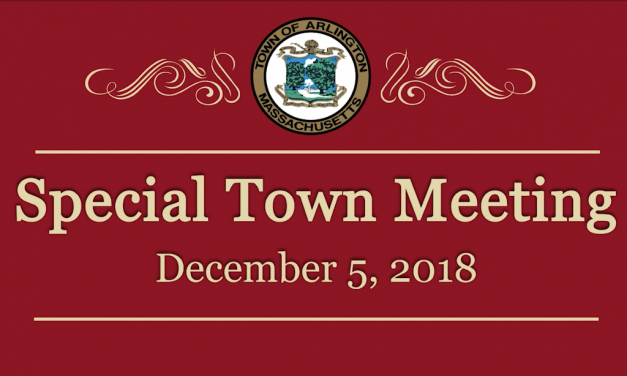 Special Town Meeting – December 5, 2018