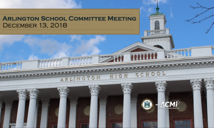 School Committee Meeting – December 13, 2018