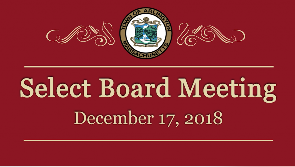 Select Board Meeting – December 17, 2018
