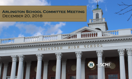 School Committee Meeting – December 20, 2018