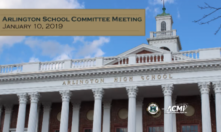School Committee Meeting – January 10, 2019