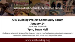 AHS Building Project Community Forum – LIVE