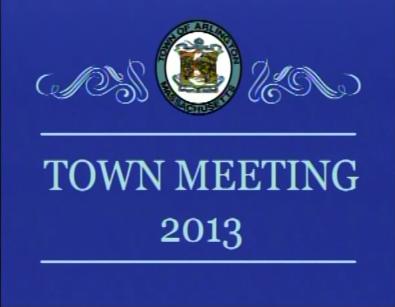 Town Meeting – April 29, 2013