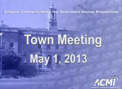 Town Meeting – May 1, 2013