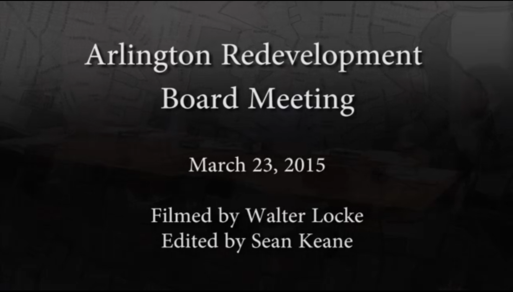 Redevelopment Board Meeting – March 23, 2015
