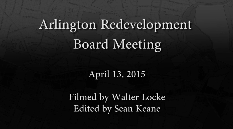 Redevelopment Board Meeting – April 13, 2015