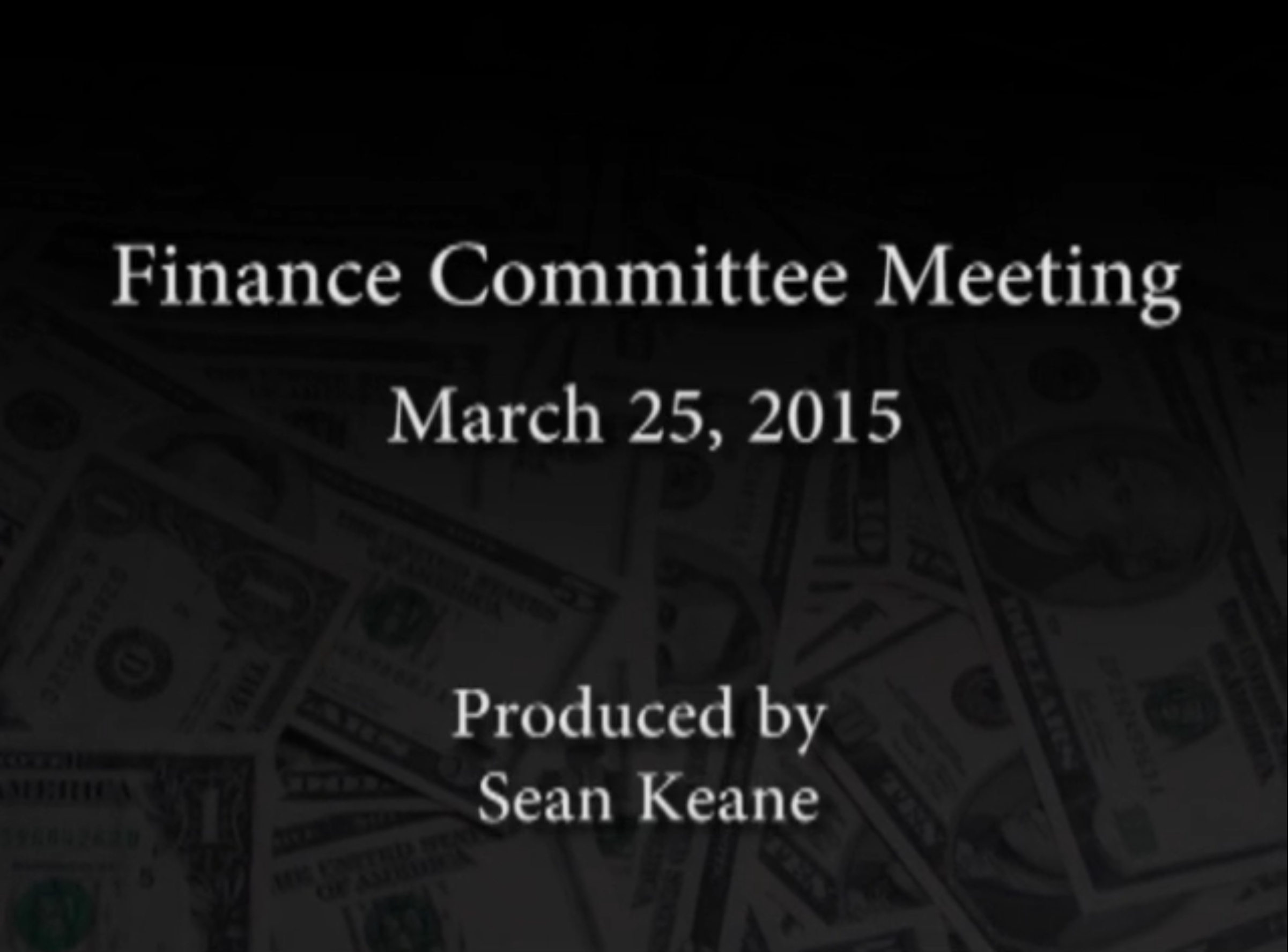 Finance Committee Meeting – March 25, 2015
