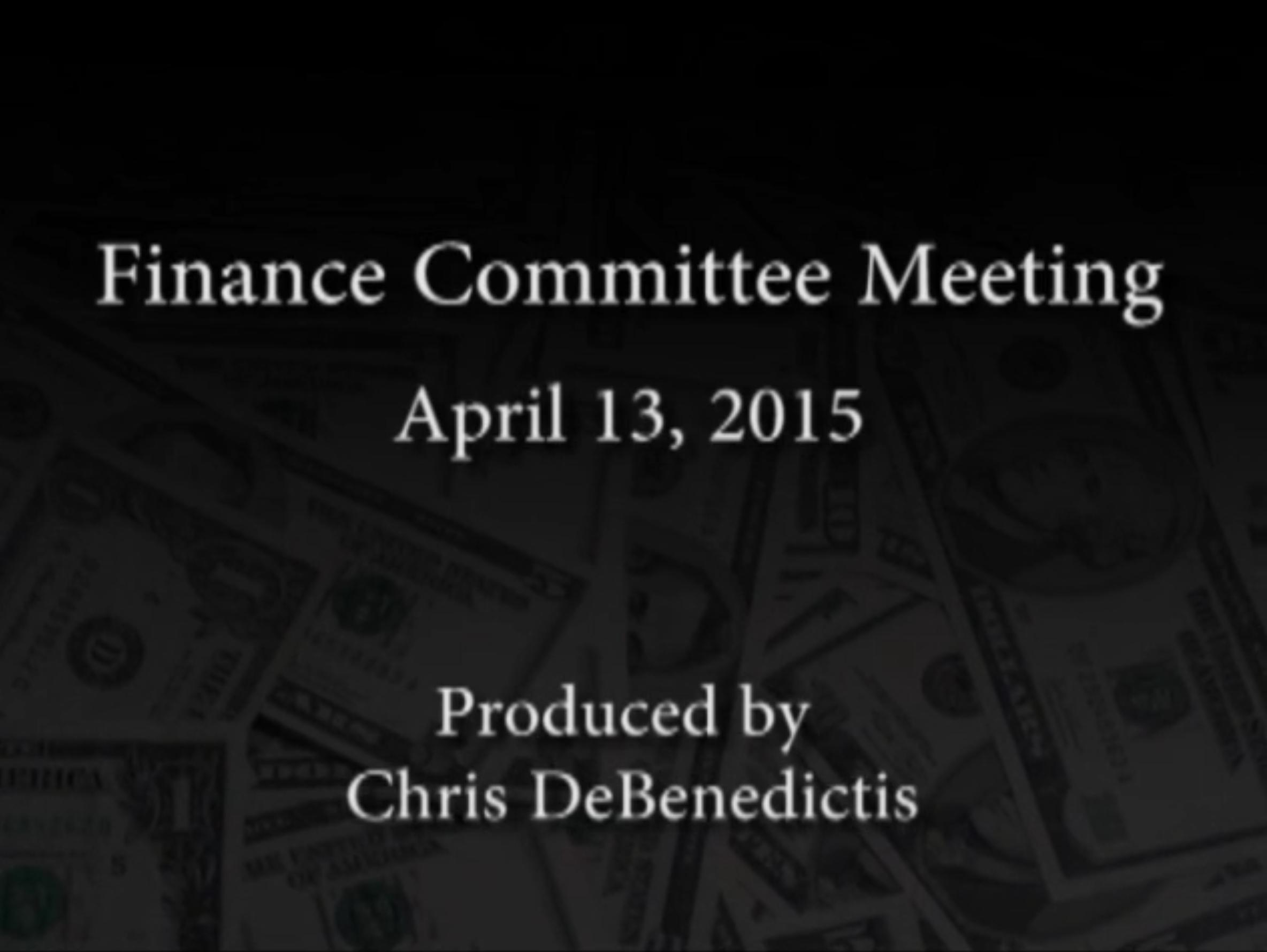 Finance Committee Meeting – April 13, 2015