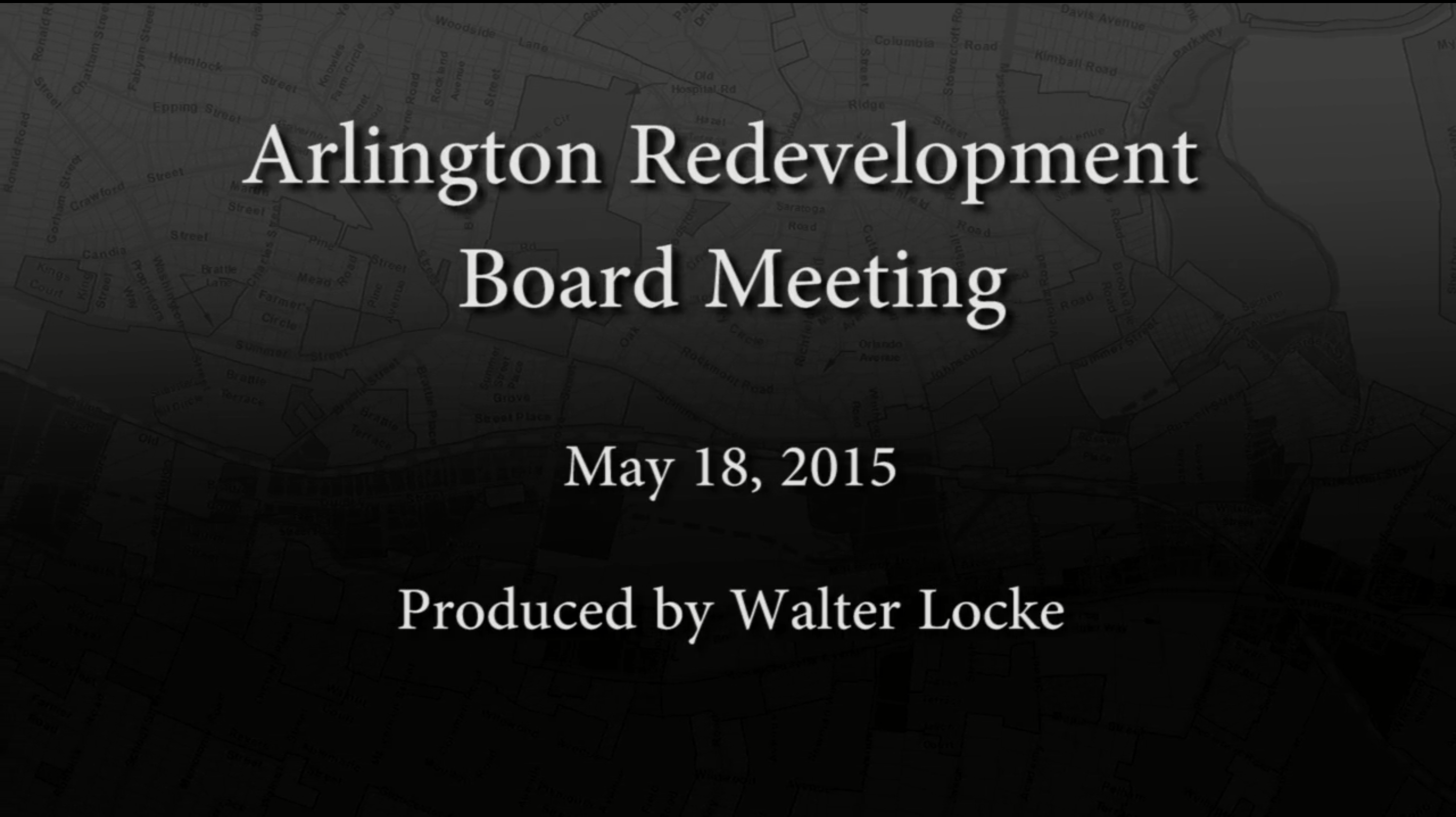 Redevelopment Board Meeting – May 18, 2015
